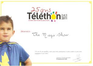 le concept the magic show téléthon