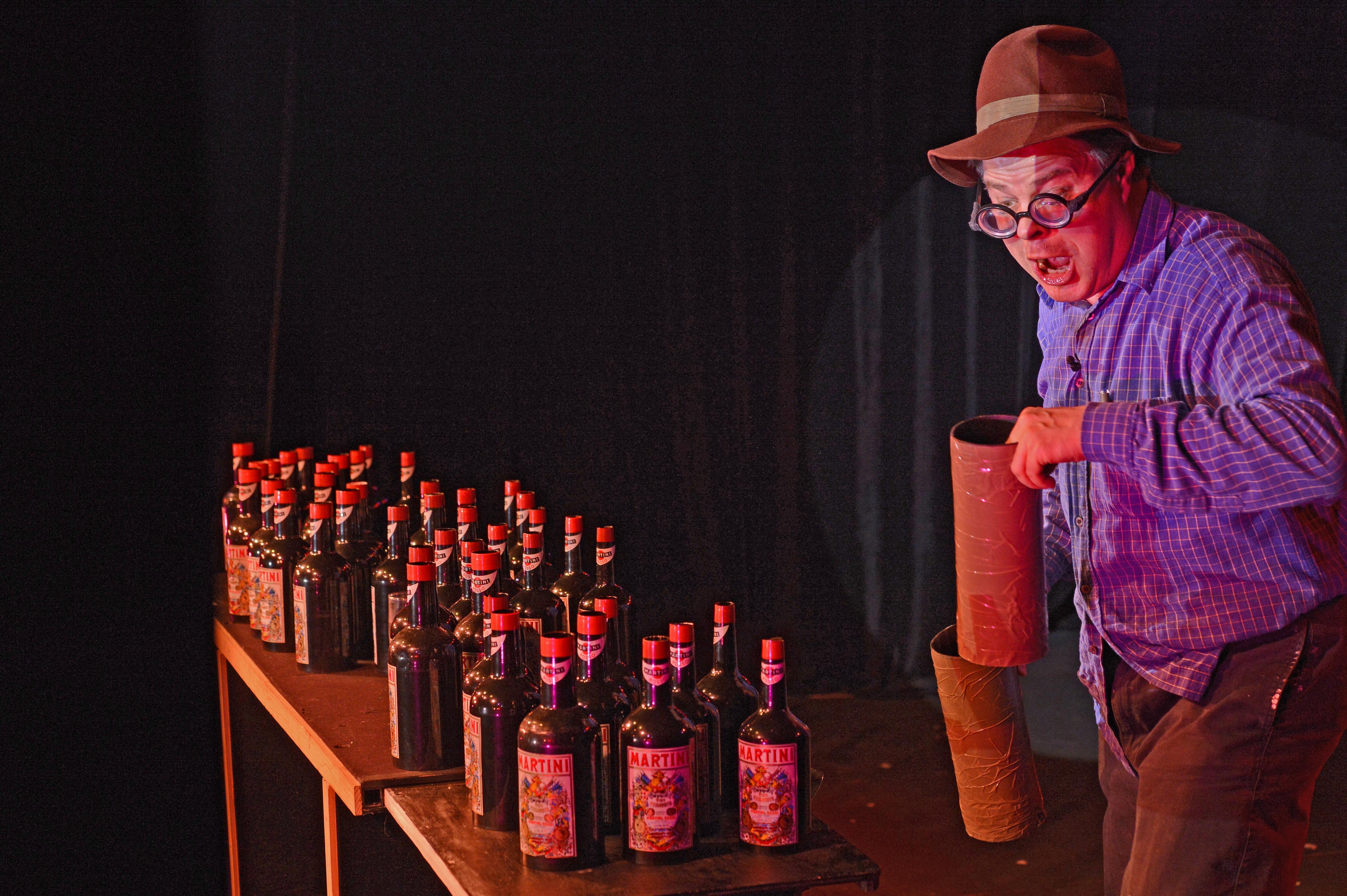 hugues protat - edmont et ses bouteilles